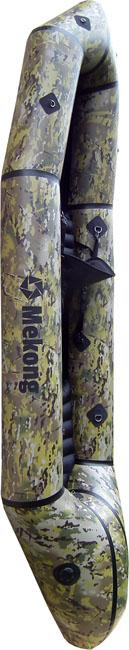 Packraft biplace en tissu camouflage, pour passer inaperçu dans la nature - Mekong packraft