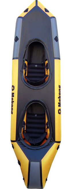 Packraft biplace avec pontage fixe, capable aussi bien en mer qu'en classe 3 - Mekong packraft