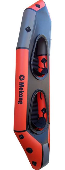Packraft biplace avec pontage fixe, l'alternative aux kayaks gonflables Gumotex en haute rivière - Mekong packraft