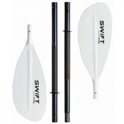 Pagaie démontable 4 parties, pas cher, idéale pour débuter en packraft et kayak_Egalis Swift Aluminium